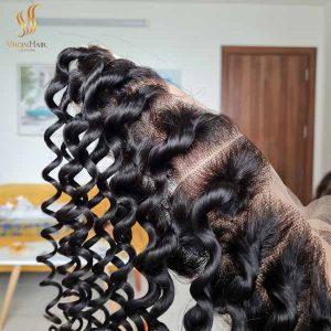 13x4 lace frontal wig deep wavy hair