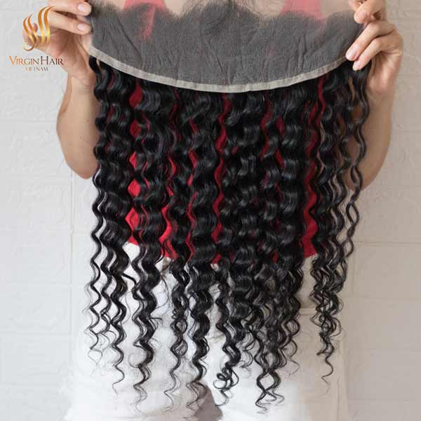 13x4 lace frontal wig water wave hair