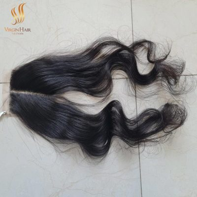 4x4 lace closure wig middle-part_loose_wave 18 inch
