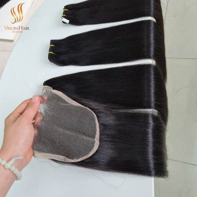 5x5 closure wholesale price free-part and bundles bone straight hair 22 inches