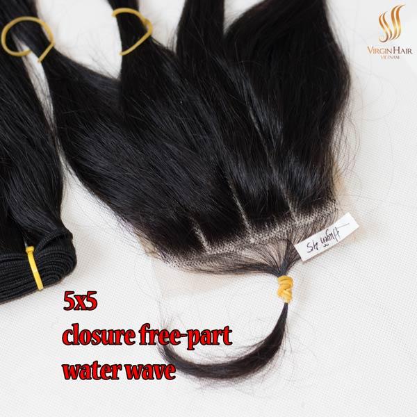 5x5 closure wholesale price three-part straight hair