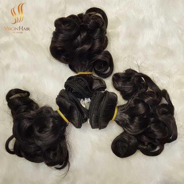 Double drawn bouncy hair - Virgin Hair Vietnam - virgin human hair
