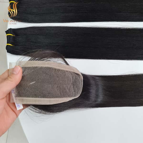 vietnam hair - Kim K closure double drawn bone straight hair 30 inches