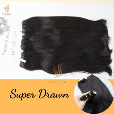 Super Drawn natural hair cuticle aligned virgin hair