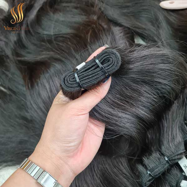 Human hair extension - Vietnamese raw hair double drawn double weft