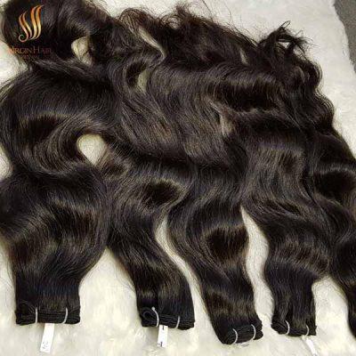 Vietnamese raw hair double drawn single weft
