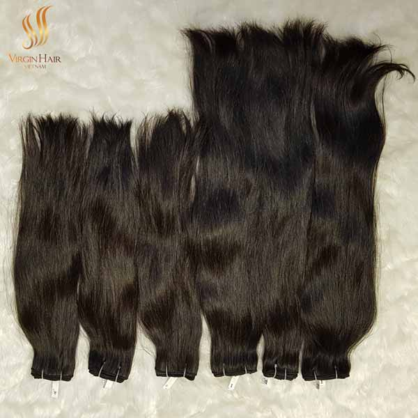 Human hair extension - Vietnamese raw hair double drawn single weft