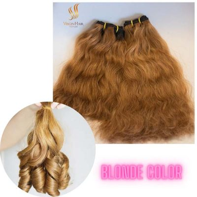 Natural wave - Bouncy hair blonde color