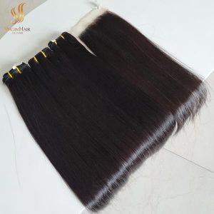 bone straight vietnam hair - raw cuticle aligned hair - frontals and closures human hair