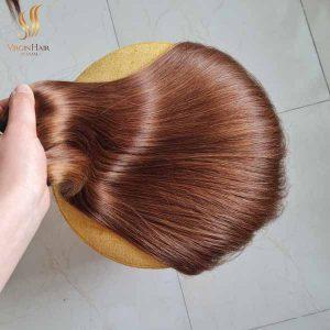 brown hair extensions - vietnamese raw hair - human hair closure and bundles