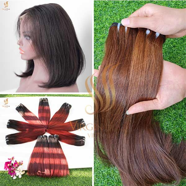 Brown color - Ombre color - Black color from Virgin Hair Vietnam