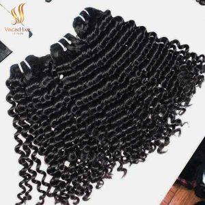 deep wave hair - vietnam hair - human hair closure and bundles