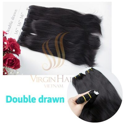 Double drawn straight hair 16 inches