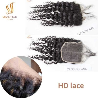Closure 6x6 HD lace middle part deep wave from Virgin Hair Vietnam
