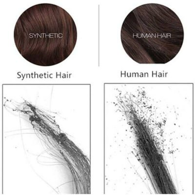 human hair vs synthetic hair