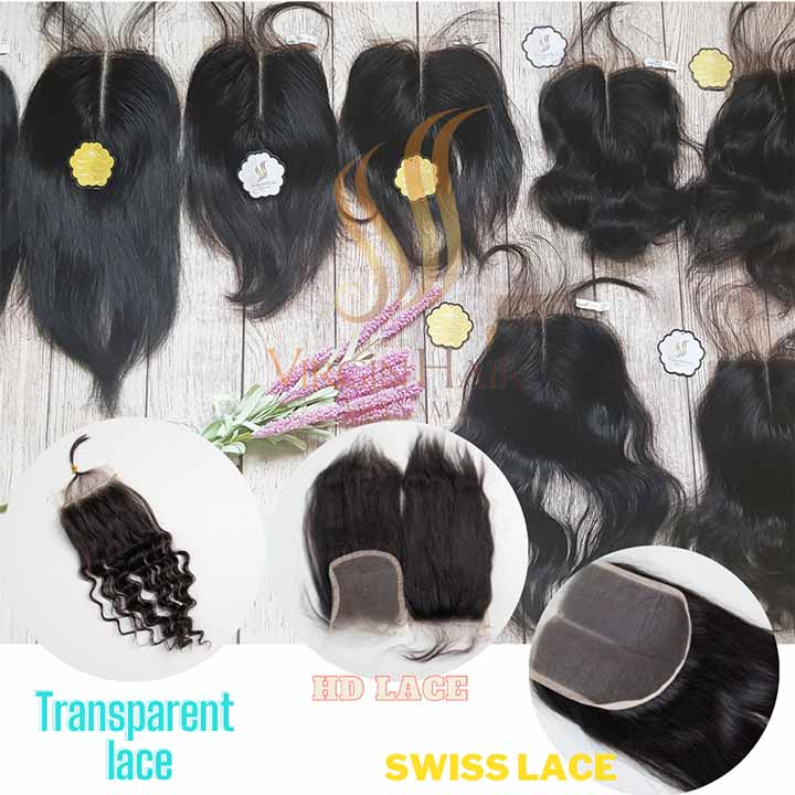 The different between Swiss lace - HD lace - Transparent lace from Virgin Hair Vietnam