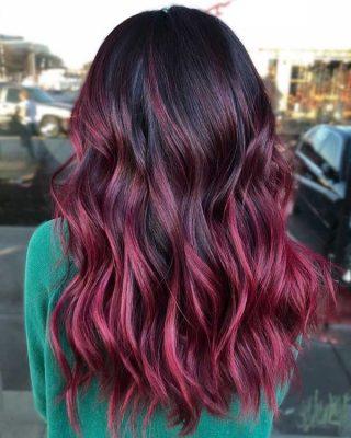 Vietnamese hair - Ombre hair burgundy color