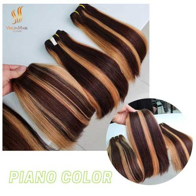 Piano color bundle straight hair 10 inches