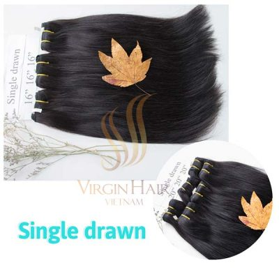 Single drawn bundle straight hair 16 inches