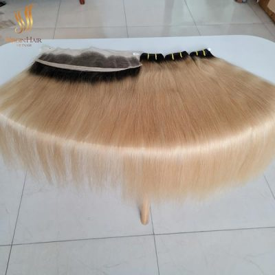 single drawn ombre hair black to 613