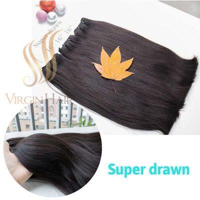 Super drawn hair 16 inches from Virgin Hair Vietnam