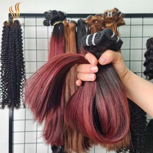 super_drawn_straight_hair_ombre_color_black_to_burgundy color