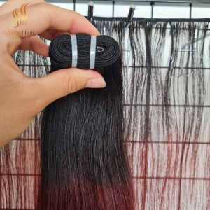 super_drawn_straight_hair_ombre_color_black_to_burgundy color_vietnamese_hair
