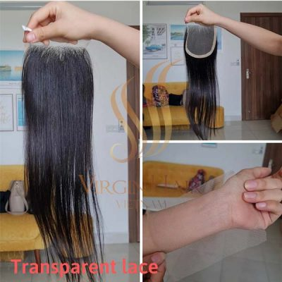 5x4 human hair closure transparent lace free part