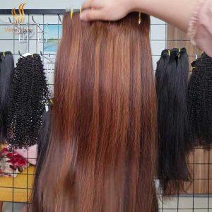 human hair extensions 18 inches - piano hair - cuticle aligned virgin hair - virgin hair vietnam