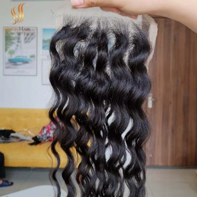 5x5 lace closure FREE-PART water wave
