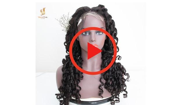 human hair bouncy wig