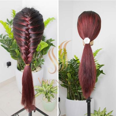 Wig ombre color long straight hair