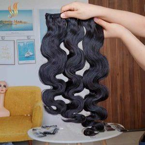super double drawn Vietnamese hair - body wave bundles - weft hair extensions human hair