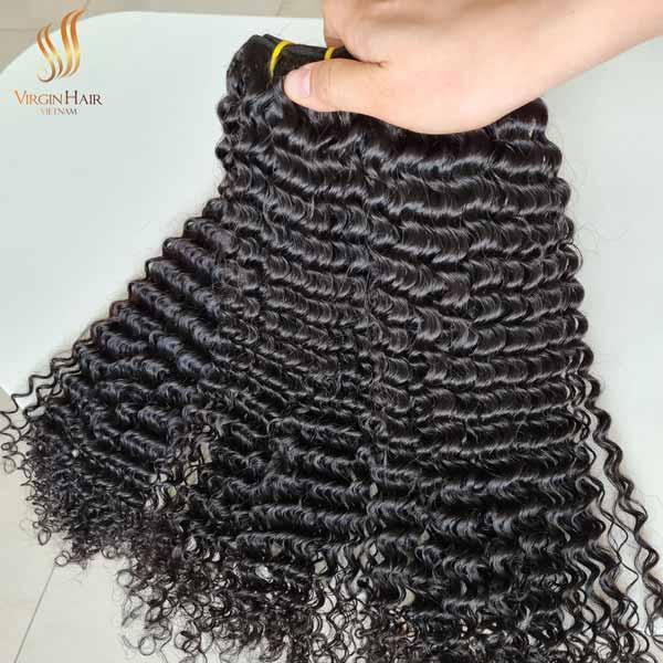 raw Cambodian curly virgin hair - curly human hair - wholesale human hair extension