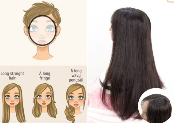 Hairstyles suitable for round face