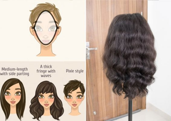 Hairstyles suitable for diamond face