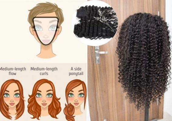 Hairstyles suitable for heart face