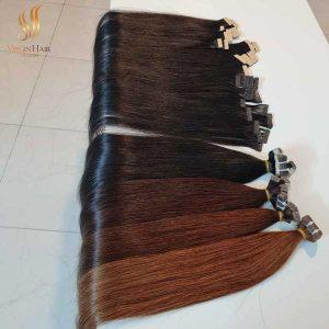 tape in hair extensions - virgin human hair - cuticle aligned virgin hair