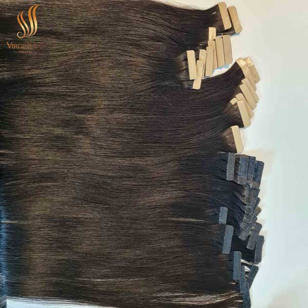 tape-in extensions - Vietnamese raw hair - hair extensions tape in natural
