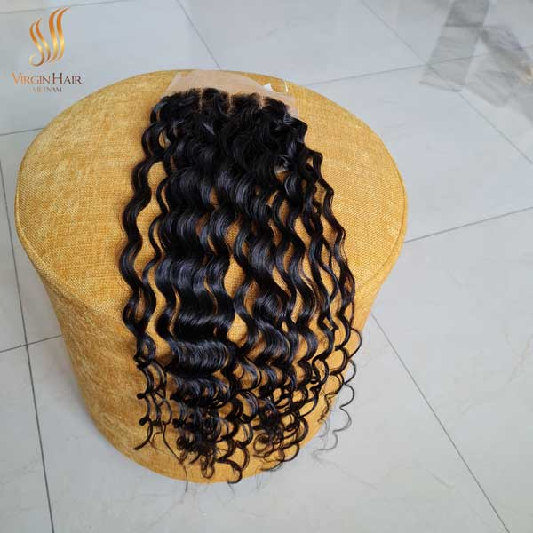 water wave 5x5 lace closure wig - unprocessed virgin human hair - HD closures and frontals