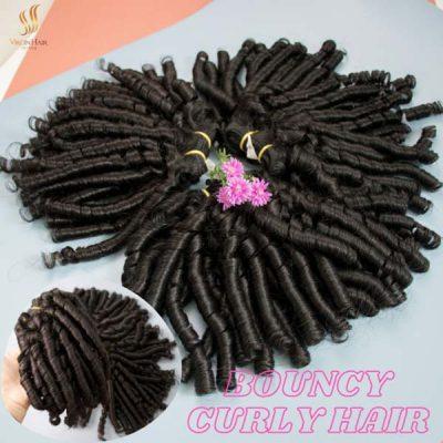 Bouncy curly hair bundles
