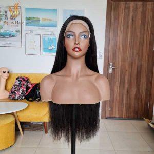 bone straight human hair wig - human hair lace front wig - vietnamese raw hair