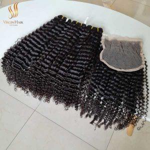 curly human hair - super double drawn - virgin human hair