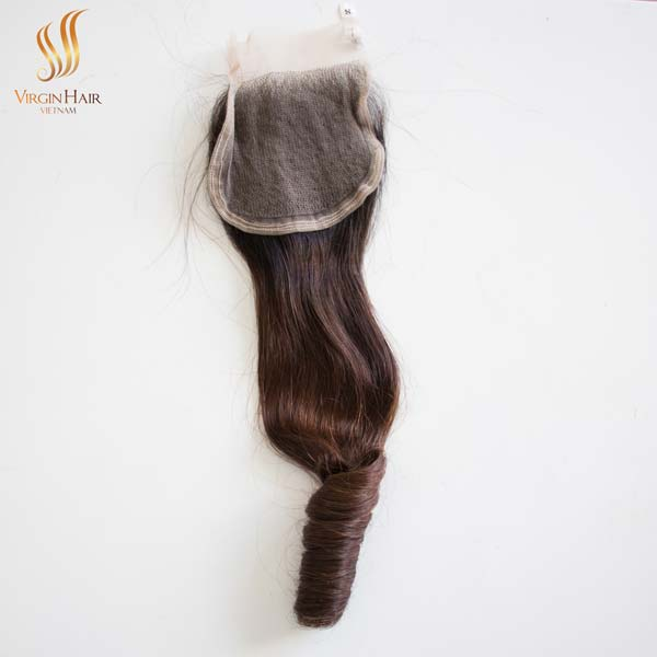 double drawn bouncy curly hair - ombre hair extensions - virgin human hair