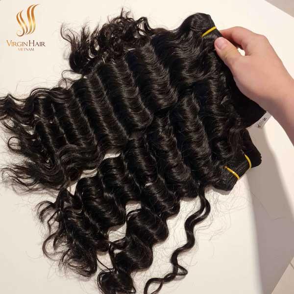 water wave hair bundles - human hair weaves bundles - cuticle aligned virgin hair vendor