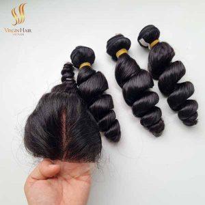 double drawn funmi hair - funmi hair bundles and closure - vietnamese raw hair