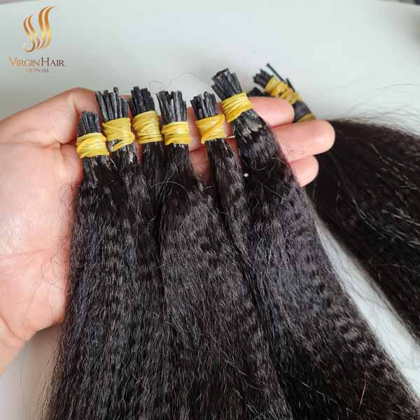cheap price itip hair - kinky curly hair - kinky straight hair