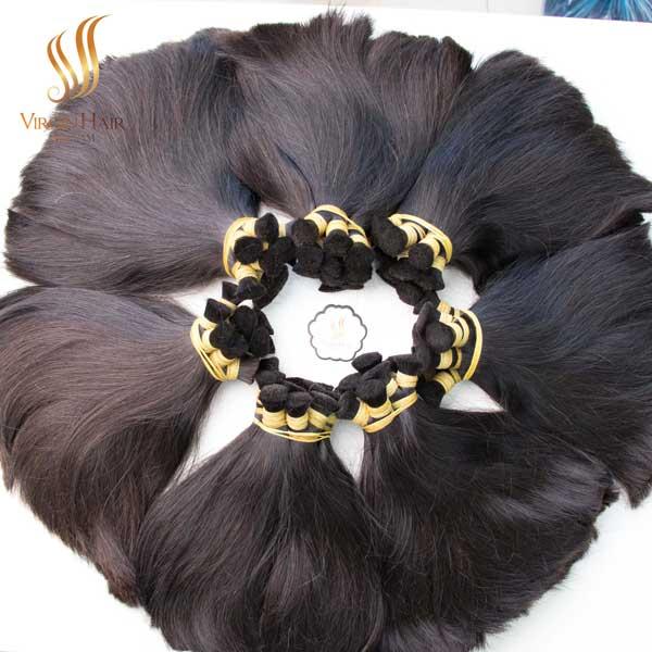 bulk human hair - super double drawn Vietnamese hair - 10a grade unprocessed virgin hair vendors