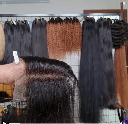4x4 Closure Bone straight Hair Swiss Lace