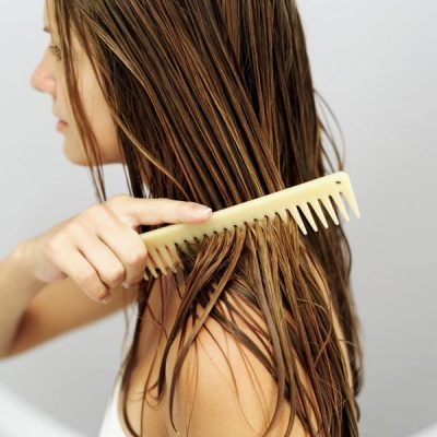 Just combing your hair helps to straighten your hair quickly